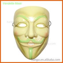Glow In The Dark High Quality PVC V For Vendetta Mask