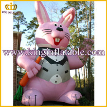 Beautiful Outdoor Large Inflatable Rabbit Animal, Giant Inflatable Bunny For Festival Decoration
