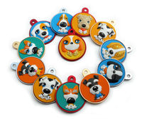 Dog Tag Colorful Cartoon Dog qr code pet ID tag Fast Shipping K025