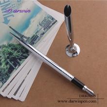 2015 Silver Pen Holder Desk Fountain Pen With Socket
