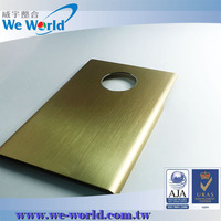Protective brushed finish golden color anodized aluminum phone cover