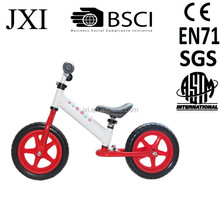 2015 fashion new design white color folding-able kids steel balance bike white