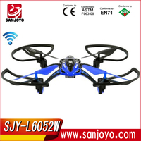 NEWEST Li Shi Toys 2.4G 4CH 6-Axis RC UFO Helicopter With Light and Camera SJY-L6052W