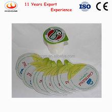 PS/PP/PE/PET aluminum foil seal film/lid for yogurt cup