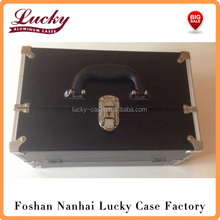 Black Makeup Train Case Lockable Cosmetic Jewelry Box Artist Beauty Bag