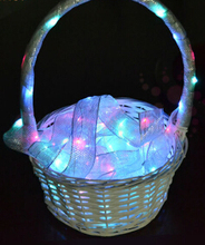 Gift Packing Ribbon With LED String Lights flashing in the dark