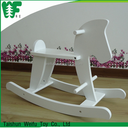 Fantasy decorative white rocking horse , wooden rocking horse