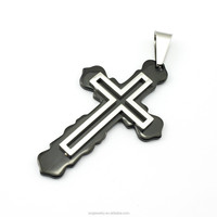 SP0729014 custom high quality black cross pendant cheap exquisite jewelry made in china