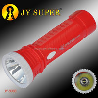JY SUPER rechargeable led flashlight torch jy9988