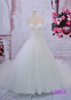 2015 guangzhou designer dress A-line bridal gowns with cord lace/puffy skirt L0904