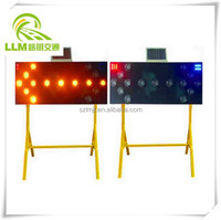 China factory customized solar traffic construction LED warning light