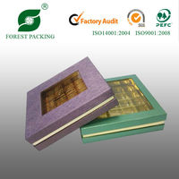 2014 NEWEST ECO-FRIENDLY WHOLESALE TRANSPARENT CHOCOLATE PACKAGING BOXES