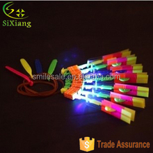 Top Selling Kids Toys Flying Umbrella Toys LED Flashing Arrow Helicopter
