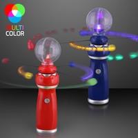 Flashlight Toys Led Light Up Magic Wand with music Crystal Ball Magic Spinning disks Led Toy