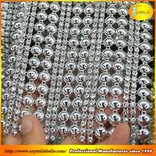 Wedding Party Table Napkin Decor Banding Silver Rhinestone Mesh Wrap Ribbon Roll Wholesale