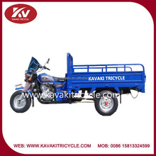 Wholesale powerful blue 150cc air-cooled cabin cargos tricycle with front windshield