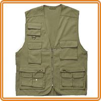 Latest deisgn multi pocket waistcoat outdoor cotton men fly fishing vests