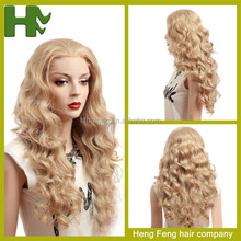 100% synthetic lace wigs high resistant fiber high temperature fiber wigs