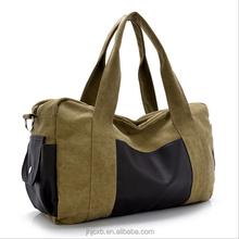 Canvas travel bag strong fitness bag handle gym duffle bag