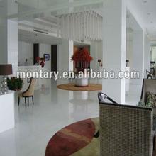 Easy Clean Nano Glass White Shiny Floor Tile