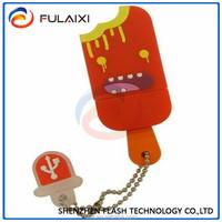 New Silicon icecream shape usb flash drive/ promotional USB disk Hotsale usb pendrive