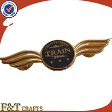 High quality synthetic enamel pilot wing pin badge/lapel pin/custom metal pin badges