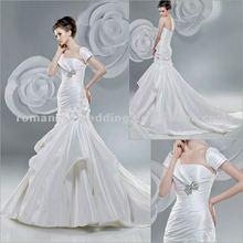 Aj0001 Elegant Beaded Mermaid Long Trail Wedding Dress 2012