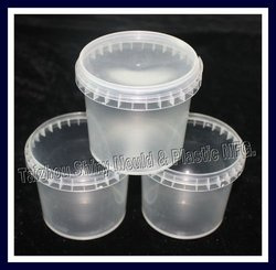 clear plastic bucket for food 1 litre