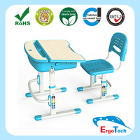 Blue Wooden Kids Study School furniture for sale