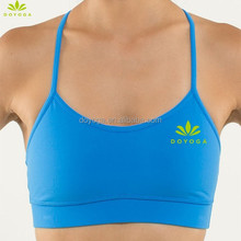 fashionable fitness sports hot selling padded yoga tops