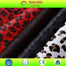 made in China Leopard COOLEYE print PU Leather for bag shoe belt