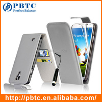 Set Screen Protector Stylus And Case For Samsung Galaxy S4 I9500 , Gray Leather Wallet Guangzhou Phone Case