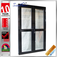 Australia AS2047 standard commercial interior double entry door with transom