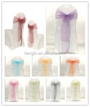 Hot sale organza sashes,wedding bow chair lace sashes, fancy cheap sashes