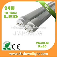 2015 smd2835 4000k new products AC100~ 240V fittings milky led light tube 24w
