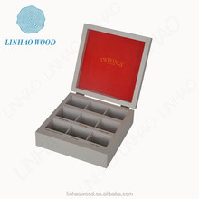 factory supplied custmized wooden tea bag storage box with compartment
