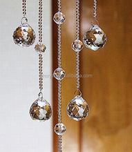 Transparent Ball Shape crystal bead window curtains