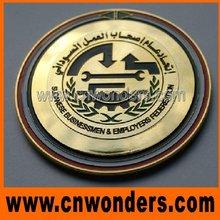 High quality custom gold color metal factory emblems