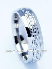 Tungsten jewelry 2012 latest design high polished tungsten ring