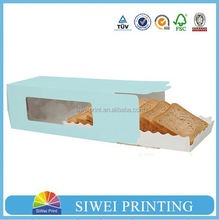 2015 New design swiss roll cake box for macaron from factory