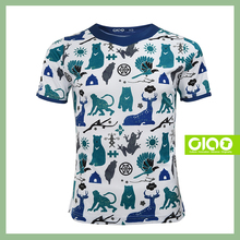Hot selling Polyester Taiwan Animals all over T-shirt, Designed Full dye Transfer Never discolor Moisture management