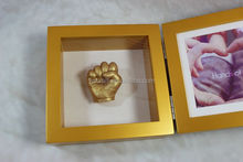 Wood shadow box photo frame for baby hand &foot model