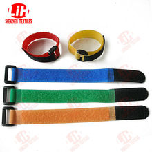 colored and printed velcro hook&loop straps with buckle cable tie
