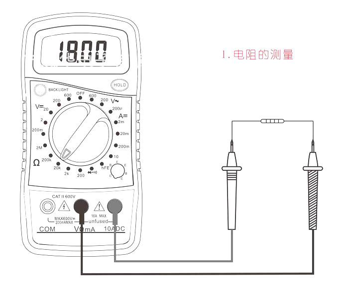 xl-830l digital multimeter voltmeter ohmmeter ammeter ohm voltage current tester