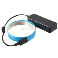 High Quality 60cm*14mm Colorful Electroluminescent Tape EL Tape EL Wire AA Battery Power