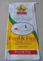 22kg plastic woven packing bag and laminated bopp woven bag for hores feed,chicken feed bag