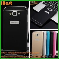 iBest Metal Bumper Frame + Acrylic Back Case Armor Cover For Samsung Galaxy J7 metal acrylic back cover for galaxy j7