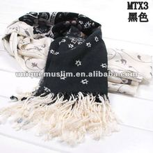 PS003 new style flower print pashmina and cotton scarf