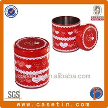 decorative tea leaf container/tin cans/machine making box