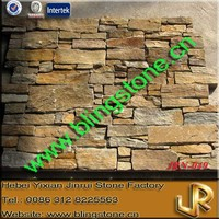 Natural Rusty Quartz Wall Stone Panel For Garage Door